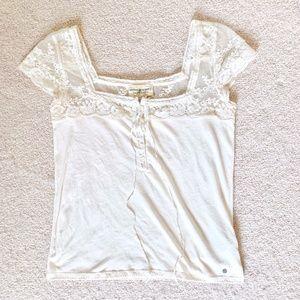 Ralph Lauren Denim & Supply~ Lacey Cap Sleeve Top